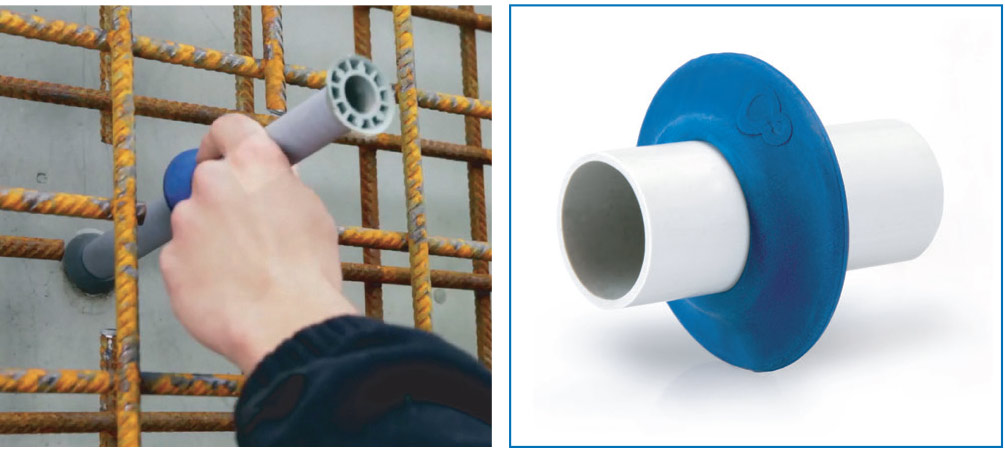 טבעת מגן הינה טבעת מגן העשויה מעצר מים  כימי להגנה מפני נזילות בחיבור שבין הצינור לבטון